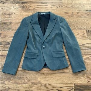 Express Lined Charcoal Gray Jacket Size 2